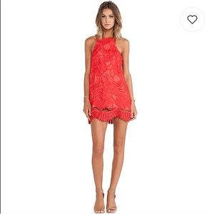 Lovers + friends Caspian shift lace dress